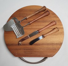 Blackwood Cheese board, knives and slicers