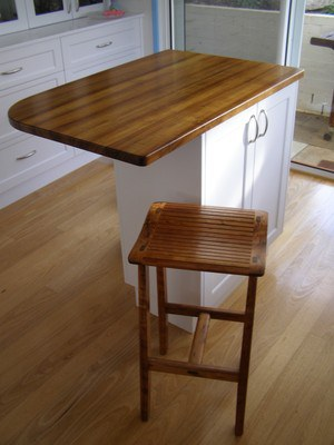 Blackwood benchtop and stool