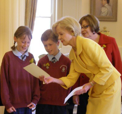 Governor-General Quentin Bryce showing her stationary