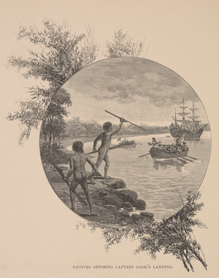 William Macleod 1888 'Natives opposing Captain Cook's arrival