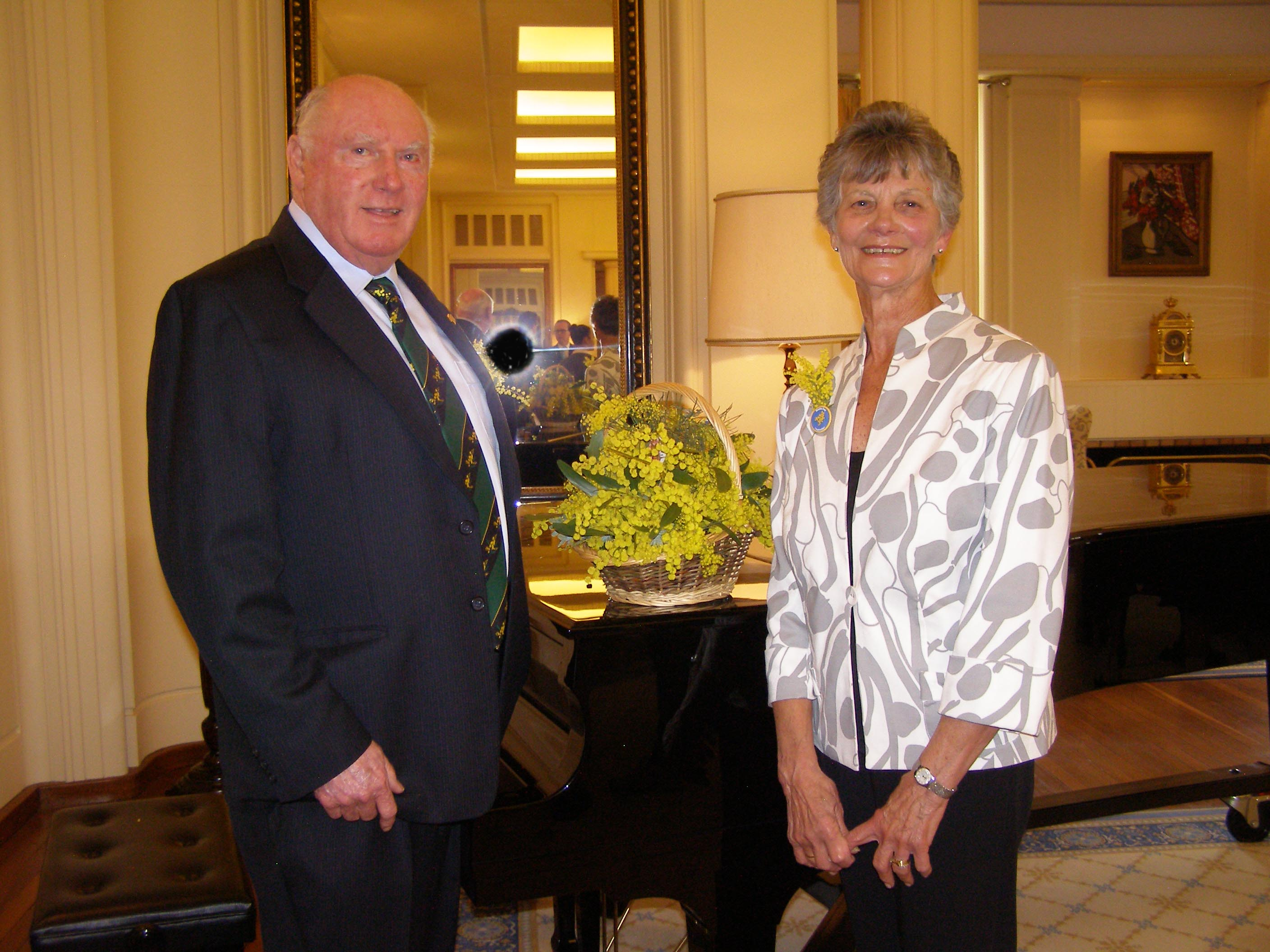 Jack & Florence Fahy at Government House