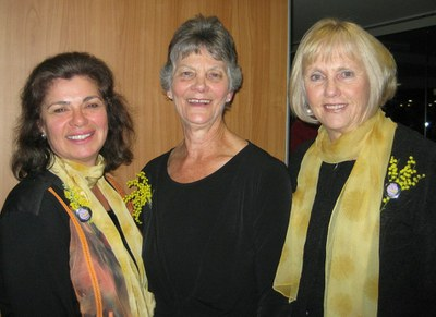 Suzette Searle, Florence fahy & Judy Tunningley 2011