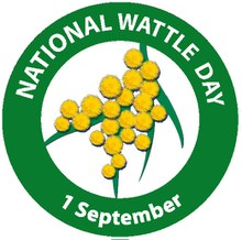 badge 2016 'National Wattle Day
