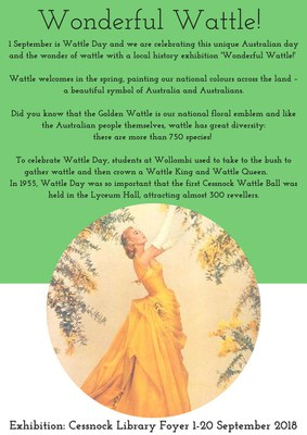 Wattle Ball Cessnock NSW poster