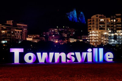 Townsville sign (in blue_