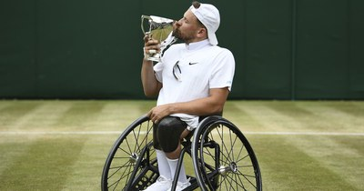 Dylan Alcott wins Wimbledon quad wheelchair singles final
