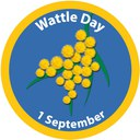 2013 Wattle Day badge