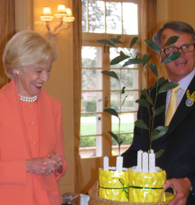 Governor General Quentin Bryce with Terry Fewtrell