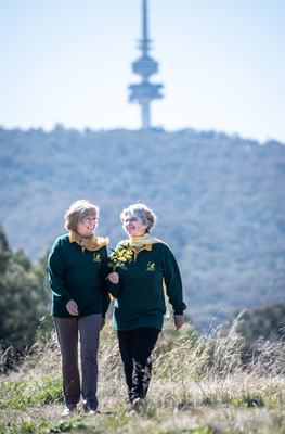 Judy Tunningley & Suzette Searle Telstra Tower Aug 2020